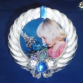 Art.  207892 Portafoto Fiore Blu Swarovski