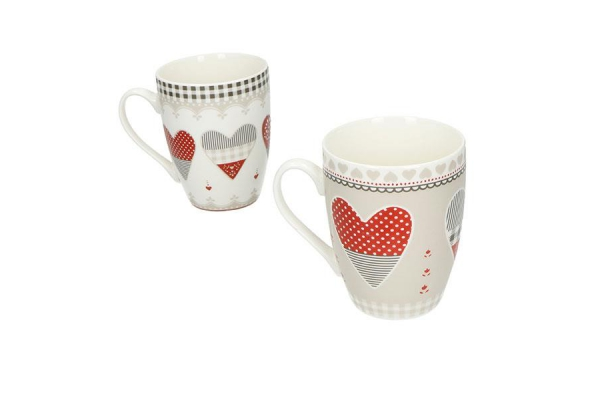 Art. 53062 Set 2 tazze mug Happy Day Brandani