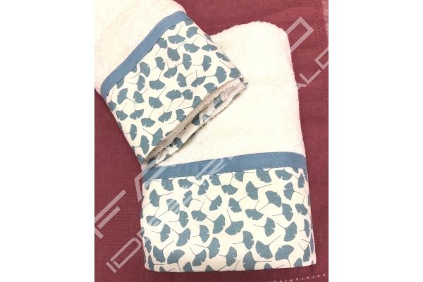 Coppia di asciugamani *Papiro* azzurro
