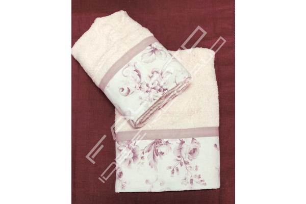 Coppia di asciugamani Shabby Chic *Alice* rosa