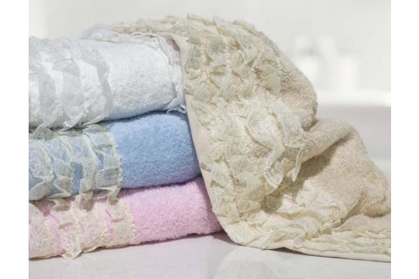 Coppia di asciugamani Shabby Chic *Amour*