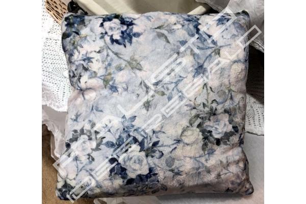 "Cuscino ""Fleur"" 45x45cm azzurro"