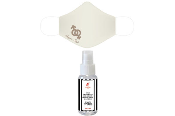 Kit Mascherina + Spray Igienizzante per Mascherine