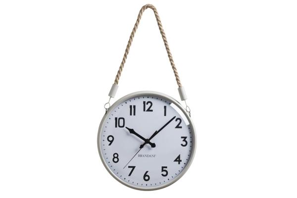 Orologio da parete con corda sabbia/bianco 27cm