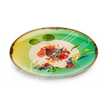"""Piatto da torta in porcellana Collezione """"Été Savage"""""""