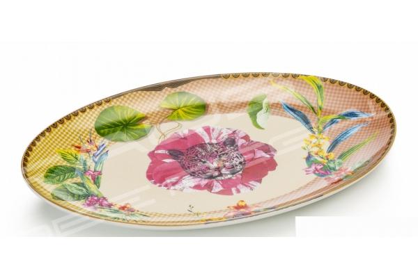 """Piatto ovale in porcellana Collezione """"Été Savage"""""""