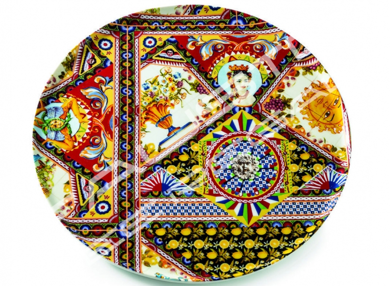 """Piatto torta in porcellana Collezione """"Santa Rosalia"""""""