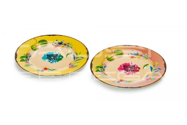 "Set 2 piattini dolce in porcellana Collezione ""Été Savage"""