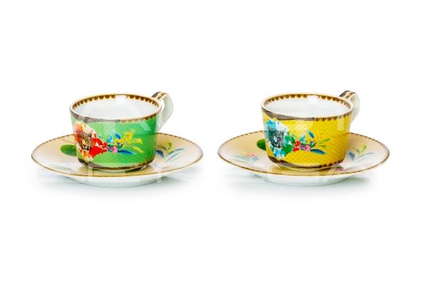 """Set 2 tazze da caffè in porcellana Collezione """"Été Savage"""""""