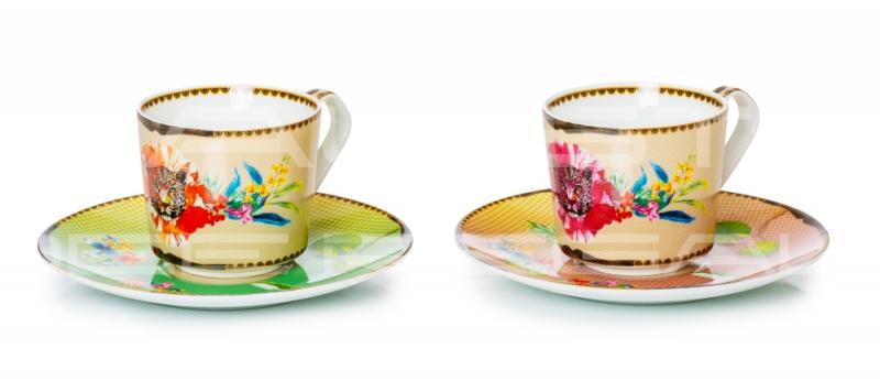 """Set 2 tazze da the in porcellana Collezione """"Été Savage"""""""