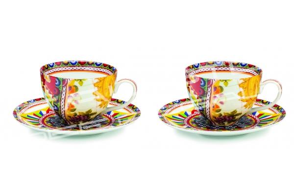 """Set 2 tazze da the in porcellana Collezione """"Santa Rosalia"""""""
