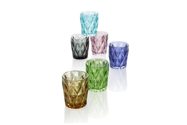 Set 6 bicchieri Diamante colorati