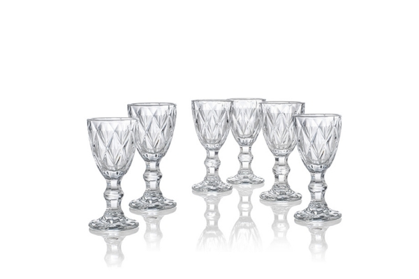 Set 6 calici liquore Diamante