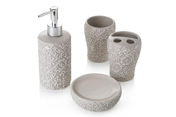Set da bagno pezzi in ceramica decorata montemaggi