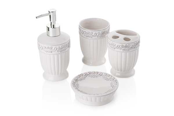 Set da bagno *Classic Ivory* in ceramica (4 pezzi)