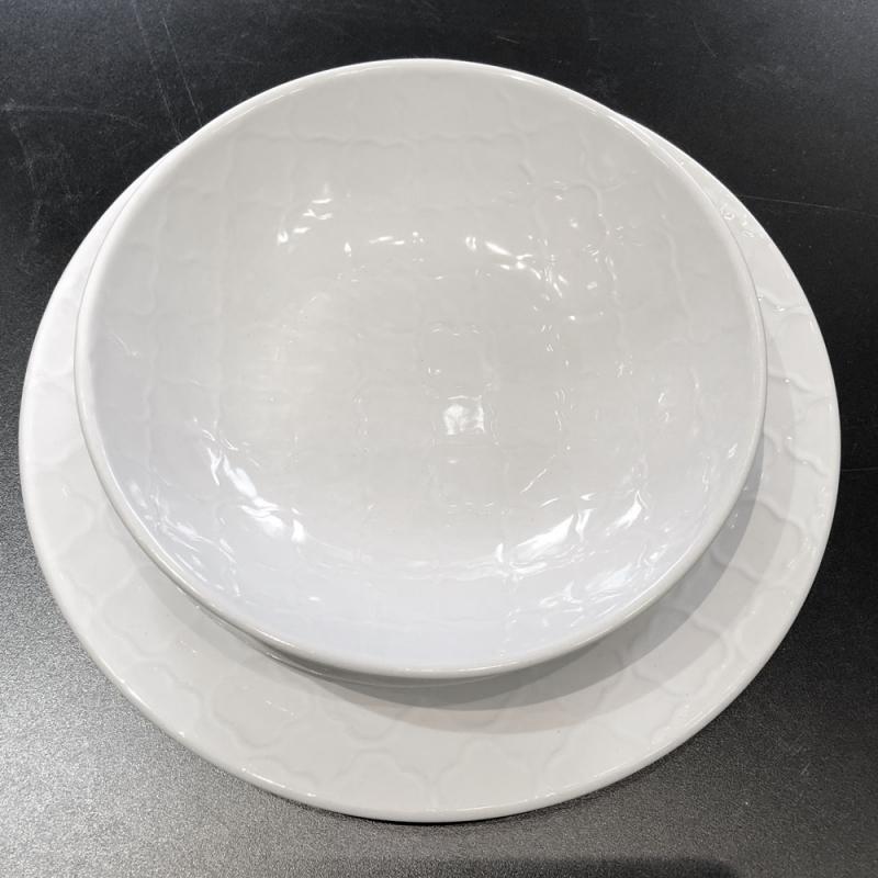 Set piatti per 6 persone Teorema bianco Brandani