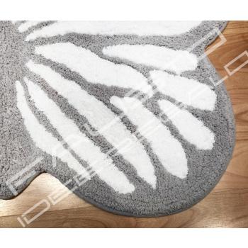Tappeto Butterfly 60x100cm shabby chic grigio e bianco