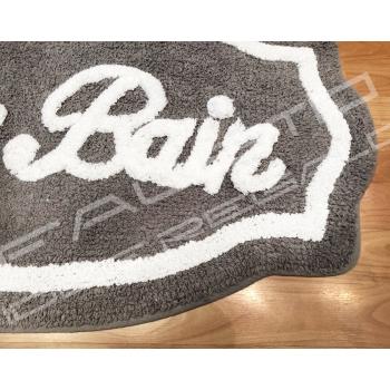 Tappeto da bagno sagomato Shabby Chic *Le Bain* Grigio sccuro 50x80cm