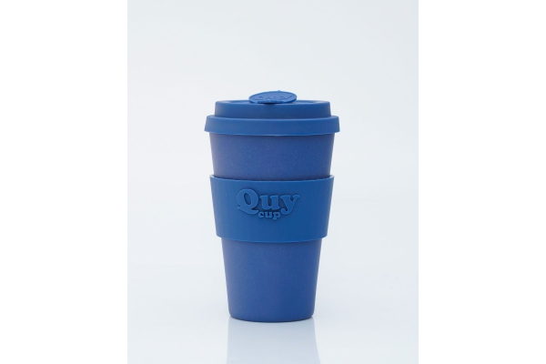 Tazza biodegradabile con coperchio in silicone *Blue*