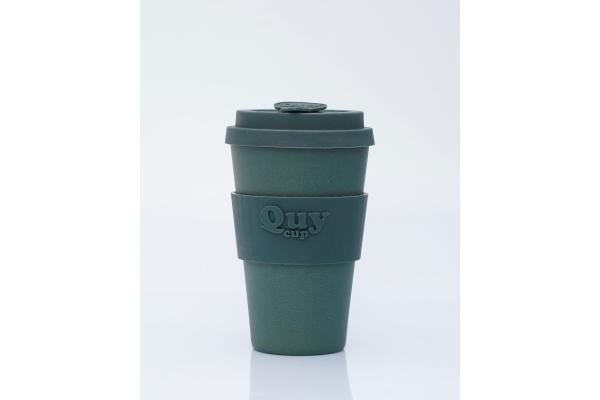 Tazza biodegradabile con coperchio in silicone *Fumo*