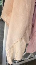 Telo mare pareo avorio *Madeleine* 100% cotone con balza shabby chic Atelier 17