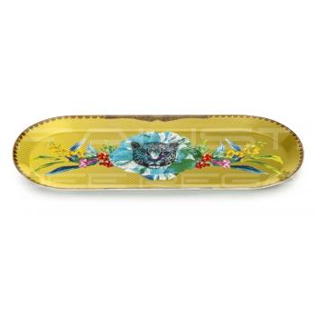 """Vassoio ovale piccolo in porcellana Collezione """"Été Savage"""""""
